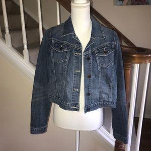 Old Navy maternity stretch denim jacket size M